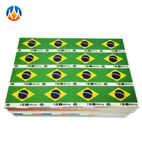 High Quality Self Adhesive Label Paper Flag Sticker Set