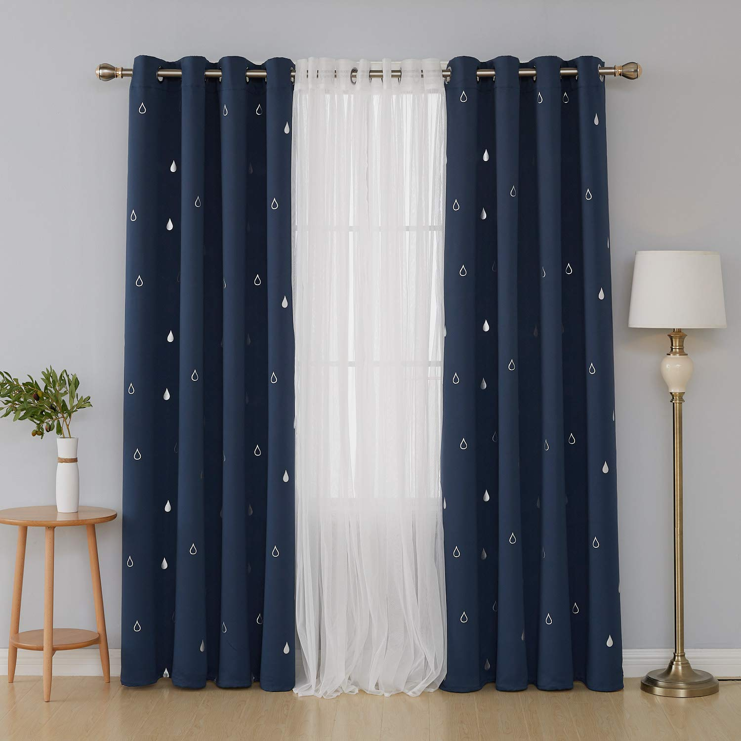 2019 Ready made solid polyester hotel quality blackout curtains for living room & bedroom