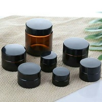 FDA certificated Various Specifications Amber Glass Cream/Cosmetic Jar