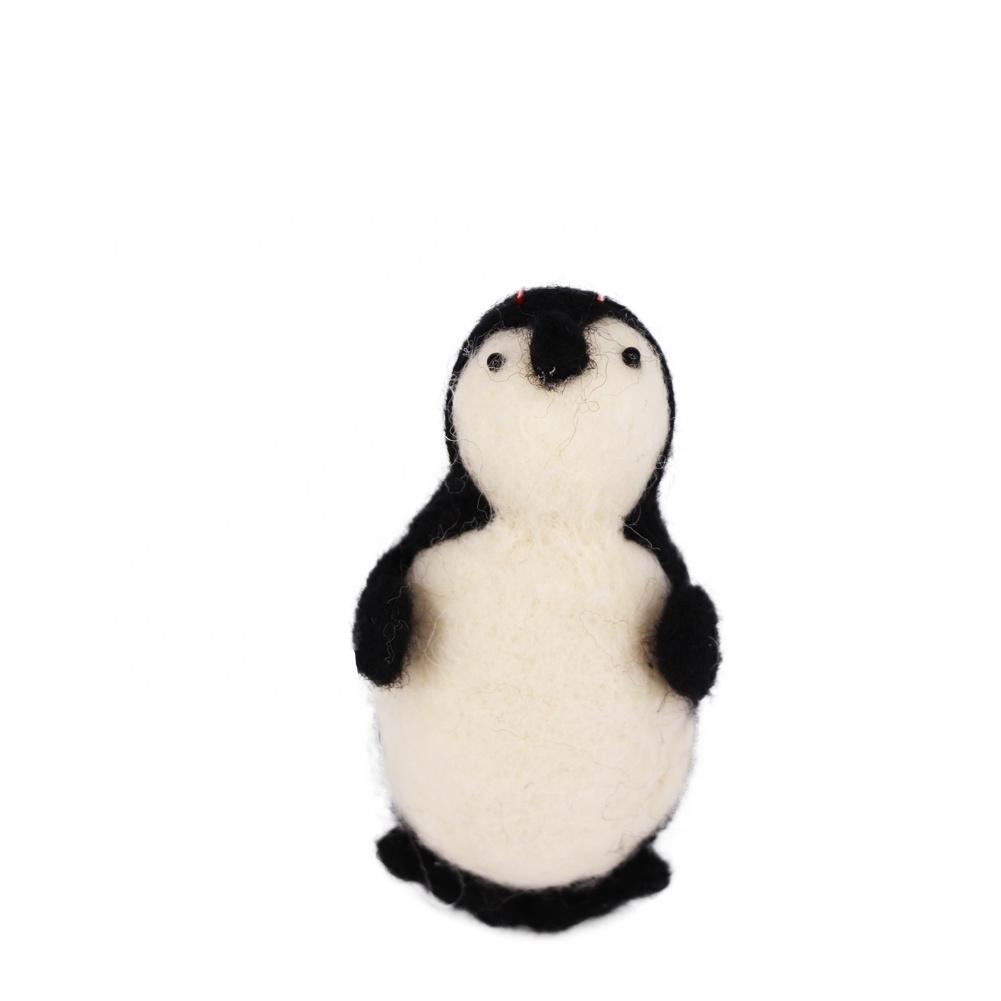 Penguin handmade animal ornaments,Nordic Figurine,Table Ornament, Christmas,home,holiday Decor