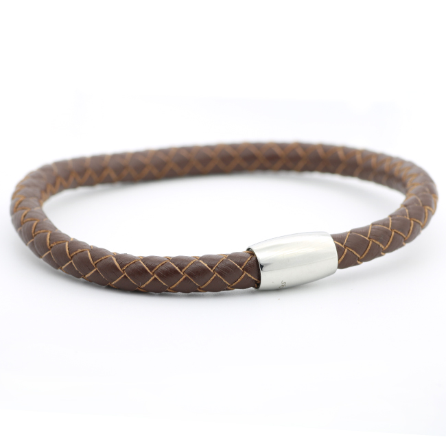 Mix Colors Cuff Magnetic Stainless Steel Clasp Leather Bracelet For Charms