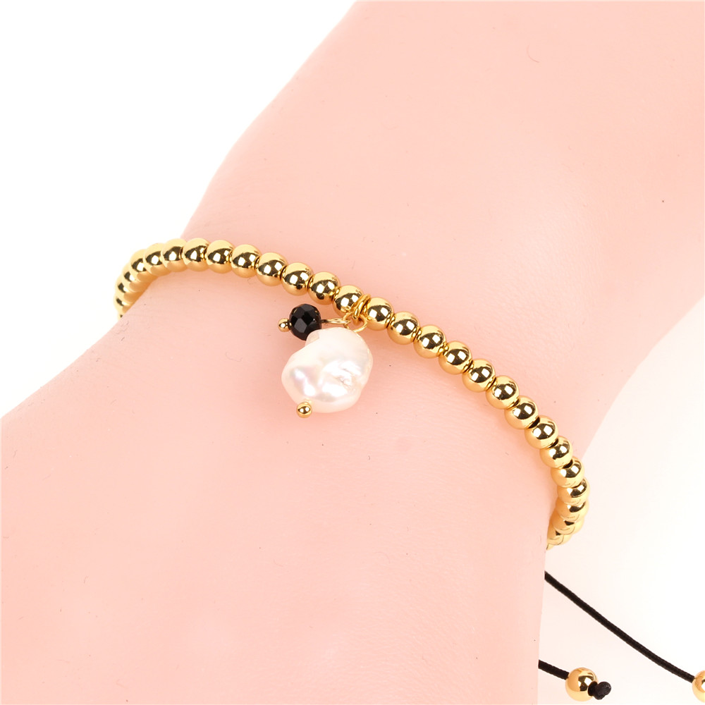 Popular Girls Crystal Glass Beads Parts  Fresh Water Pearl Pendant Bracelet