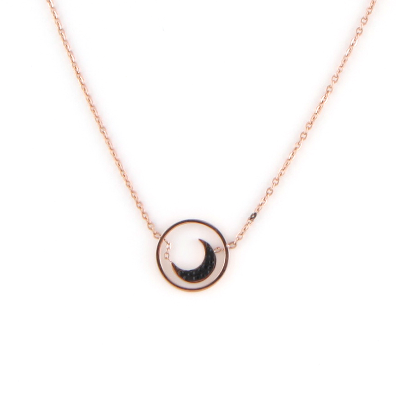 Fashion Stainless Steel Pearls Charms Pendant Necklace Gold Plated Jewelry