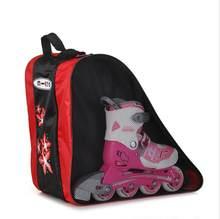 Высокое качество Сгущает лед гонки скейт сумка для взрослых и детей, роликовые рюкзак для коньков Сумка для ношения через плечо встроенный ...(Китай)