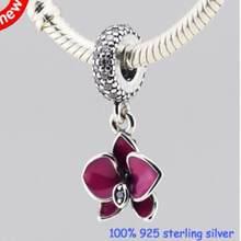 Подвески в форме сердца для мамы и дочки, браслеты Pandora, 100% серебряные бусины 925 пробы для изготовления ювелирных изделий для женщин(Китай)