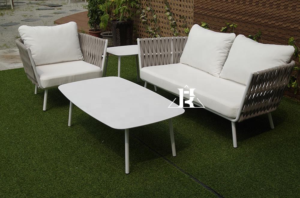 Good Outdoor Set Rattan Aluminum Patio outdoor rattan Sofa Garden Furniture With High Quality