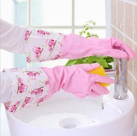 Dishwashing Gloves Waterproof Rubber Latex Thin Kitchen Durable Dishes Wash Clothes Plastic Rubber Cleaning Housework