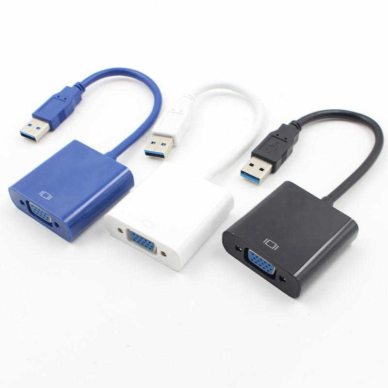 USB to VGA Adapter, Multi-display Video VGA Converter USB 3.0 to VGA Adapter for Windows 10/ 8.1/ 8/ 7  laptop Desktop PC Cable
