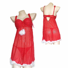Stock Women Sexy Nighties Lingerie Baby dolls with Sequins for Christmas
