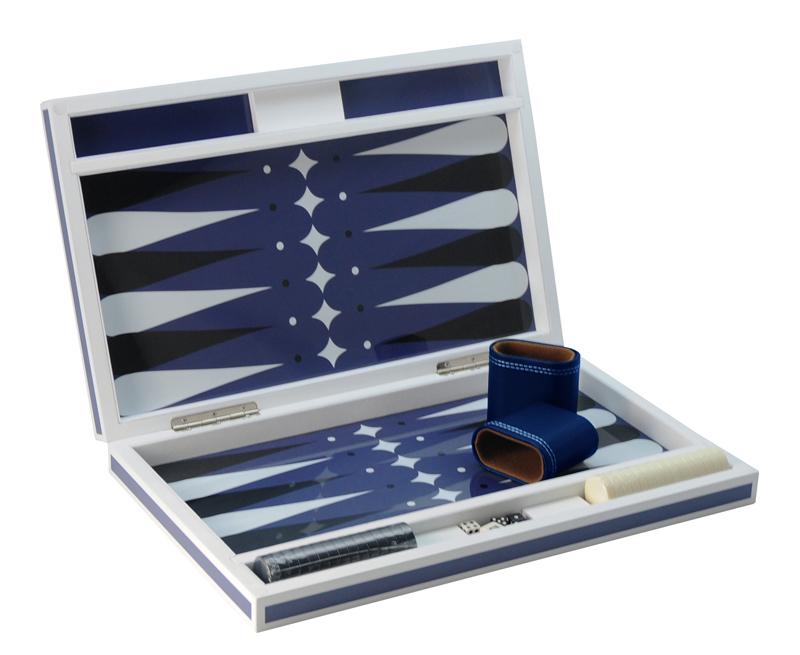 Custom Luxury 21-inch Tournament Backgammon Game  Brown With Dice Set Glossy Wooden Walnut Backgammon Set
