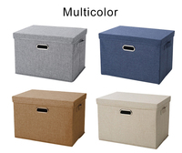 Cotton&linen folding washable storage box clothing household collating box custom fabric large storage boxes manufacture