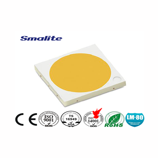 The EMC 5050 5W 750ma warm white cob LED light source with fine workmanship is uniform without color difference
