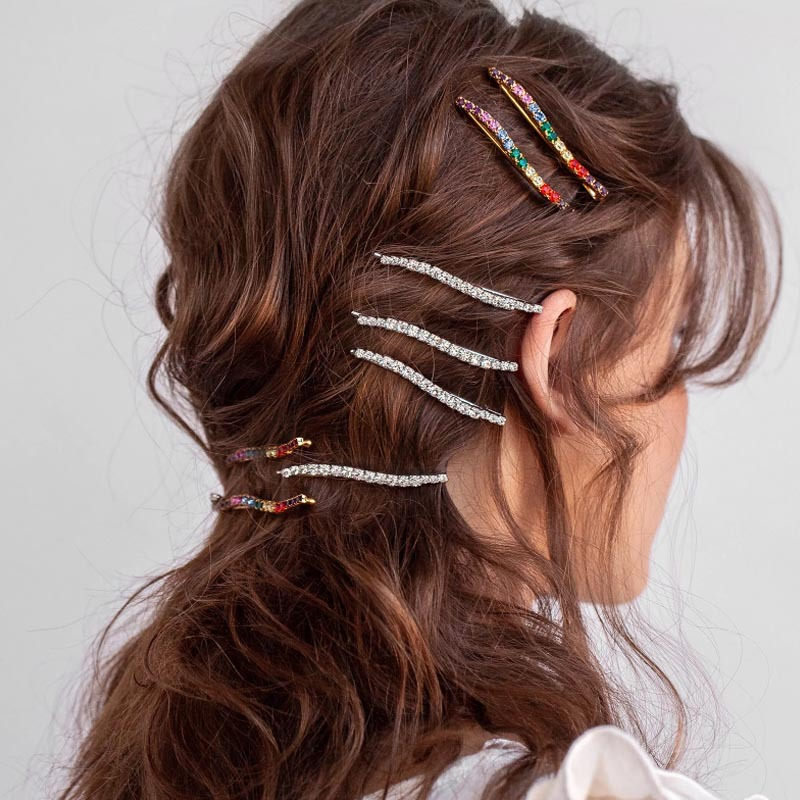 ins hot sale new designs hair clip colorful  hair accessories for girls and lady