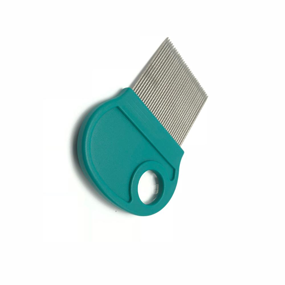 PP <strong>plastic</strong> <strong>lice</strong> <strong>comb</strong> with Magnifier ,stainless needle, Offer blister pack