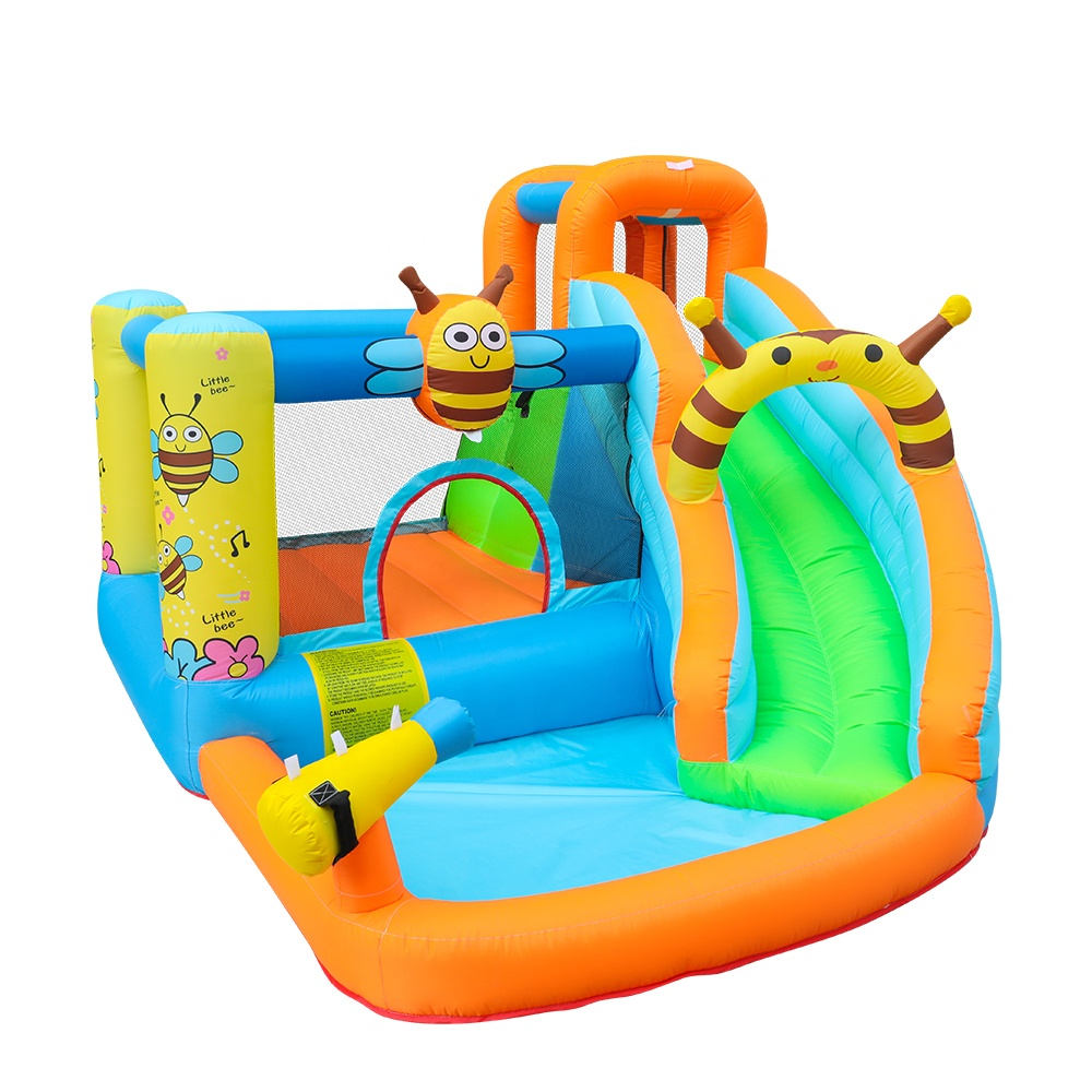 Cheap Air Party Bounce House Baby Slide Bouncy Bee Inflatable Castle Slider for Children China
