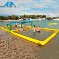 Inflatable beach volleyball court, Inflatable water polo goals, games water