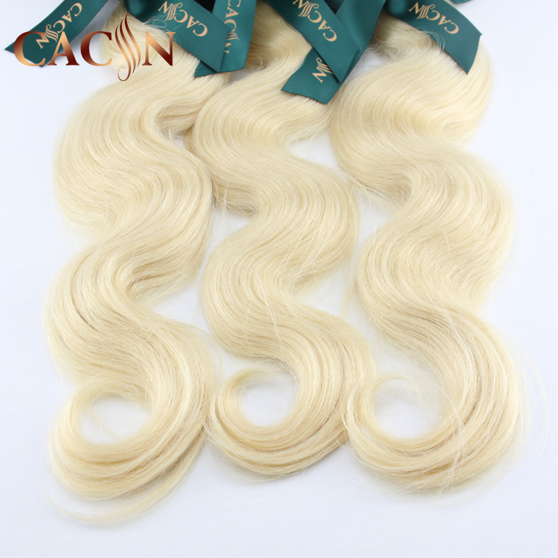 100% unprocessed young girl virgin hair extension body wave human hair blonde for black women