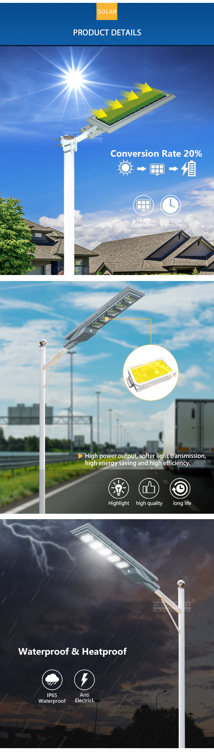 ALLTOP solar street light with panel and battery best quality manufacturer-11