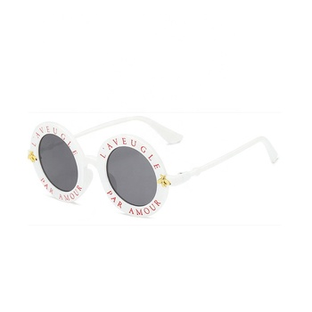 Custom printed big frame white new style hippie sunglasses