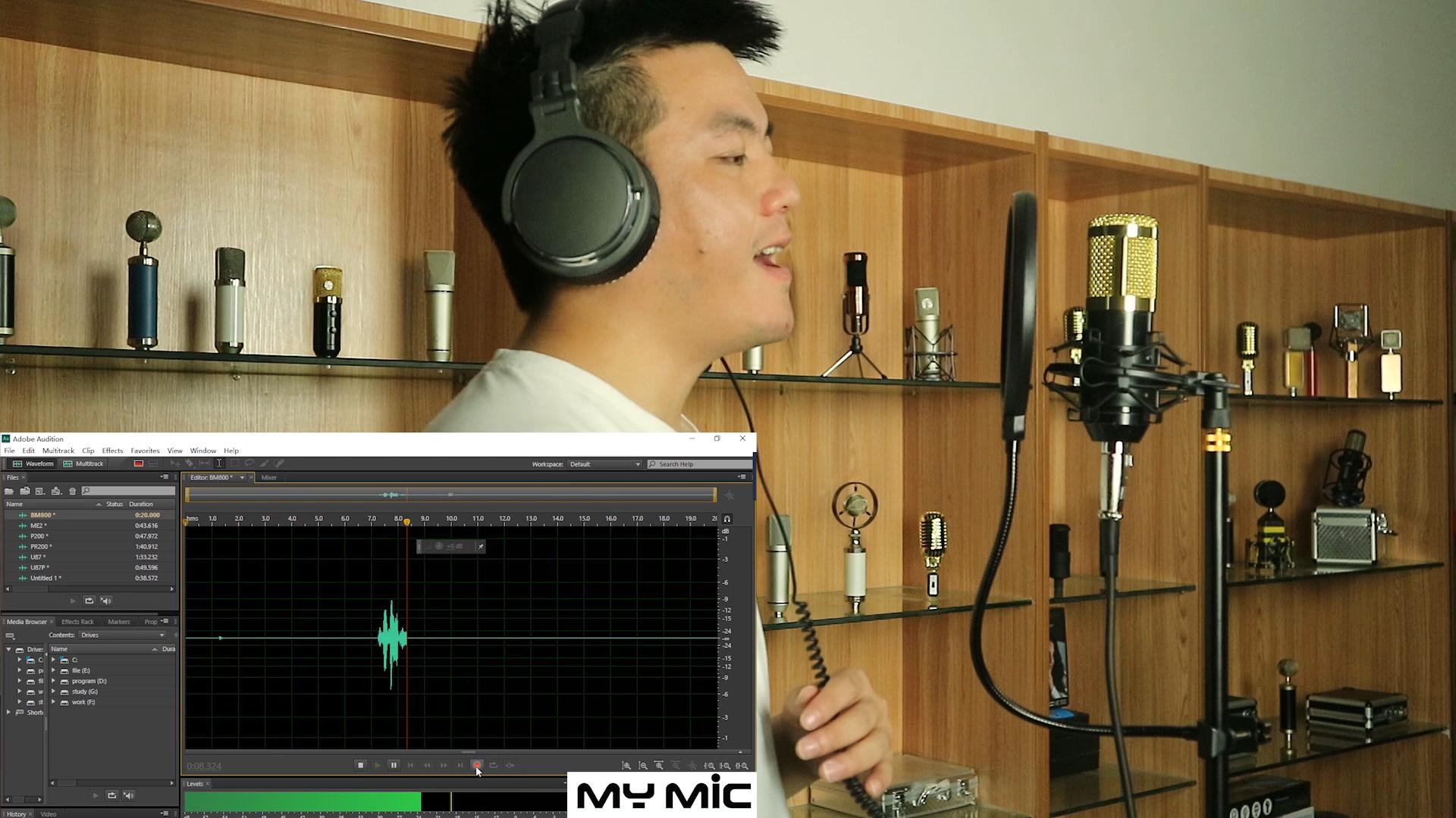 Venda quente china fonte da fábrica bm 800 microfone condensador de estúdio