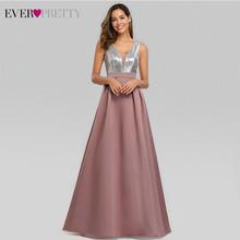 Новые платья для выпускного вечера, длинные 2020, красивое платье с v-образным вырезом, расшитое блестками, а-силуэт, Vestido Formatura, женское сексуал...(Китай)