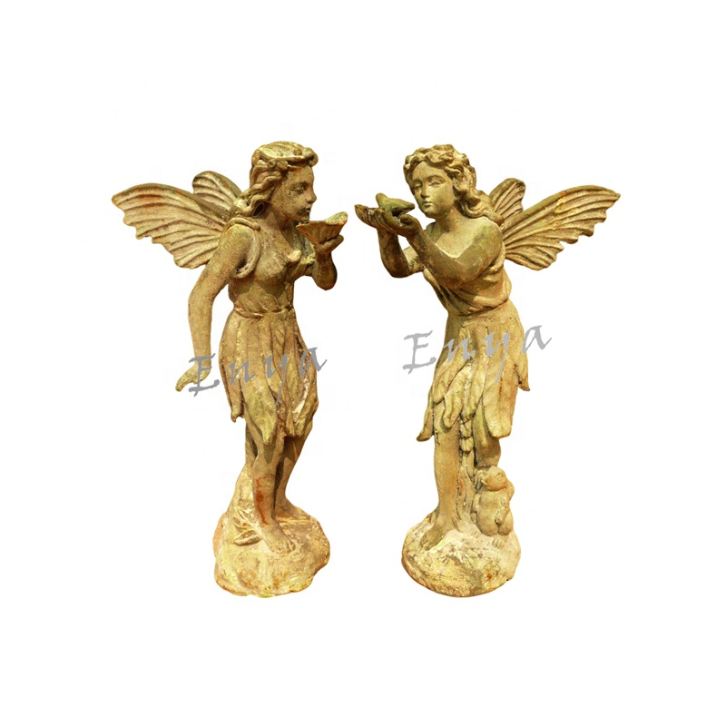 Home Garten Dekorative Metall Engel Feen Figuren Statuen