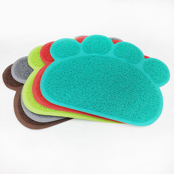 Dropshipping D'animal Familier d'impression de patte de chien chat coussin de pied tapis de litière pour chat litière pour chat toilette antidérapant tapis