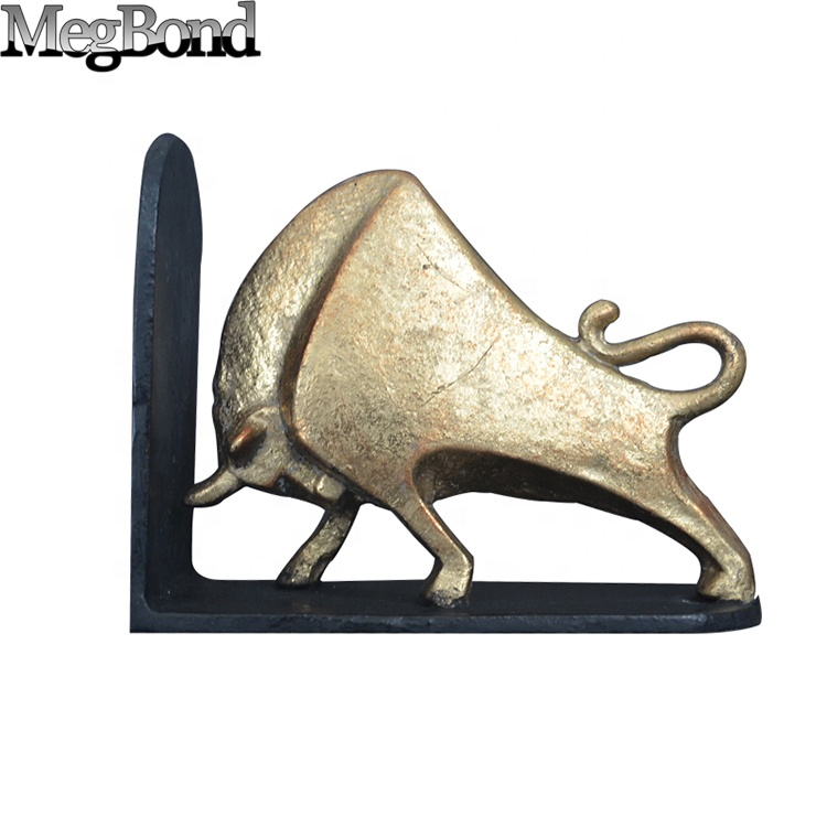 Metal strong cow decoration book reading stand for home