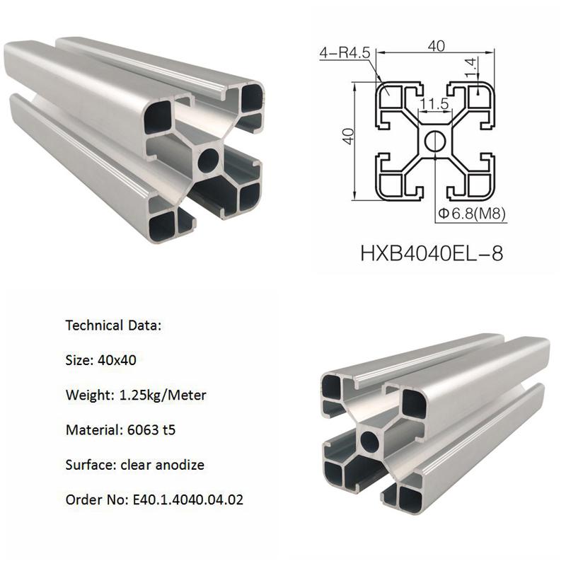 Alu-profiel 8mm t slot extrusie profielen 8mm slot alu 6063 t5