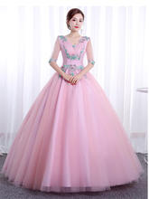 It's YiiYa свадебное платье с коротким рукавом и аппликацией размера плюс халат De Mariee с v-образным вырезом элегантные свадебные бальные платья и...(China)