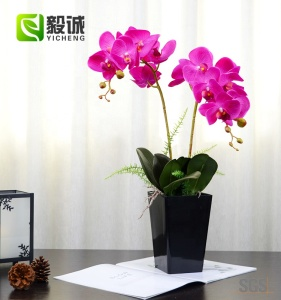 Orchid  Artificial flower bonsai in pot for home garden hotel artificial flower decorative