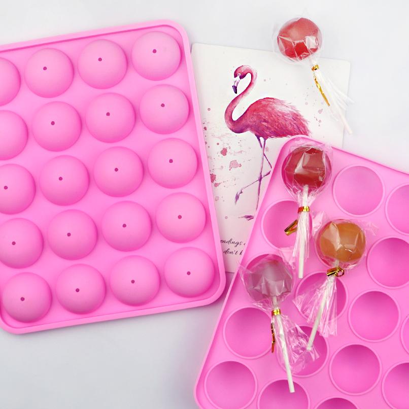 279 BPA ücretsiz gıda sınıfı 8 kaviteler sevimli noel silikon lolipop kalıp sert şeker kek aracı mutfak malzemeleri pişirme kalıp