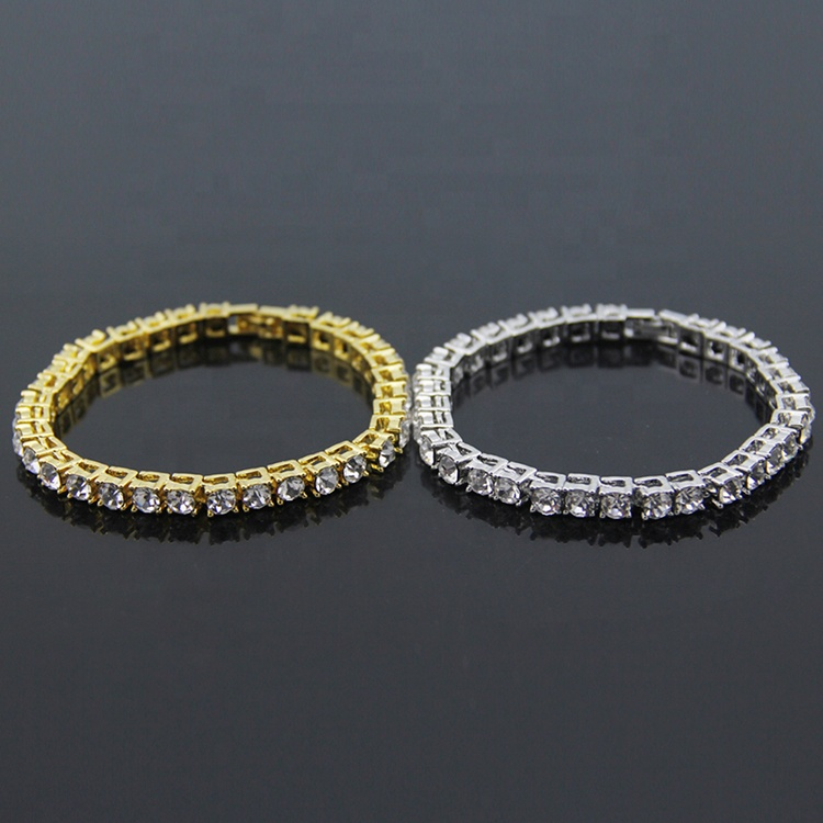 Wholesale Cubic Zirconia 18K Gold Silver <strong>Tennis</strong> Chain Women Men Iced Out Crystal <strong>CZ</strong> Diamond <strong>Tennis</strong> <strong>Bracelet</strong>