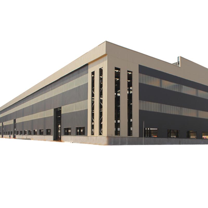 Demountable Double Span Light BuildingออกแบบจีนFabricatorเหล็กโครงสร้างกรอบWorkshop