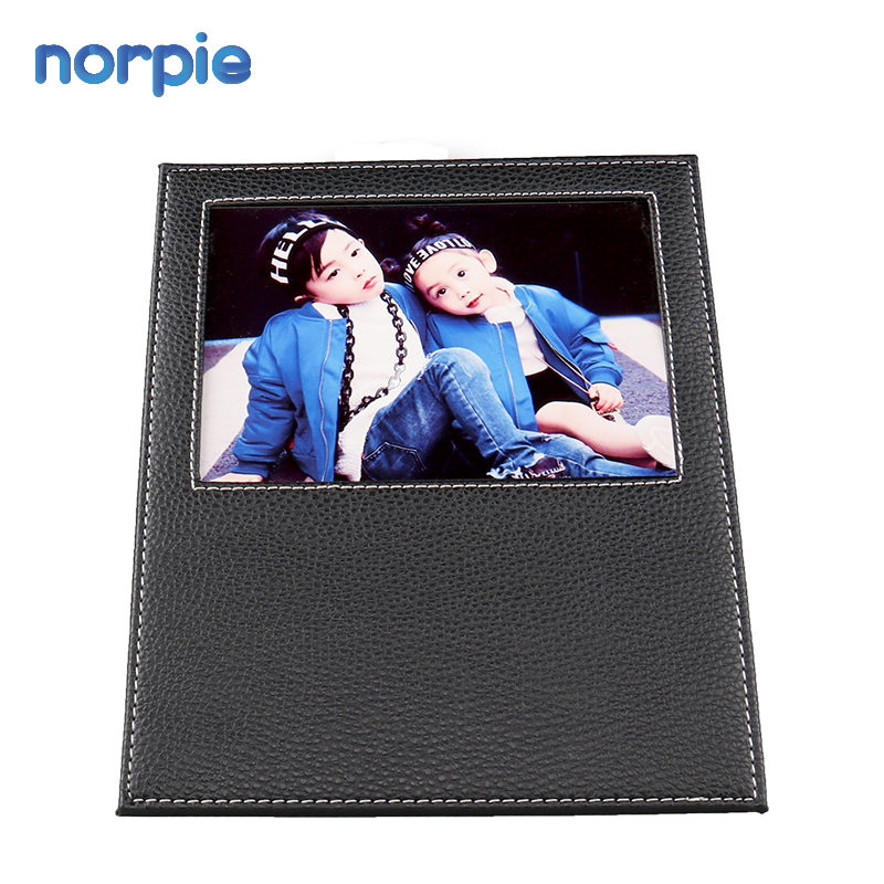 New Arrival Norpie Sublimation Printable Blank Leather Photo Frame for Decoration
