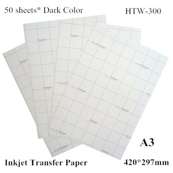 50sheet/bag Heat Transfer Paper Inkjet Thermal A3 Size Dark Shirt Transfer Paper