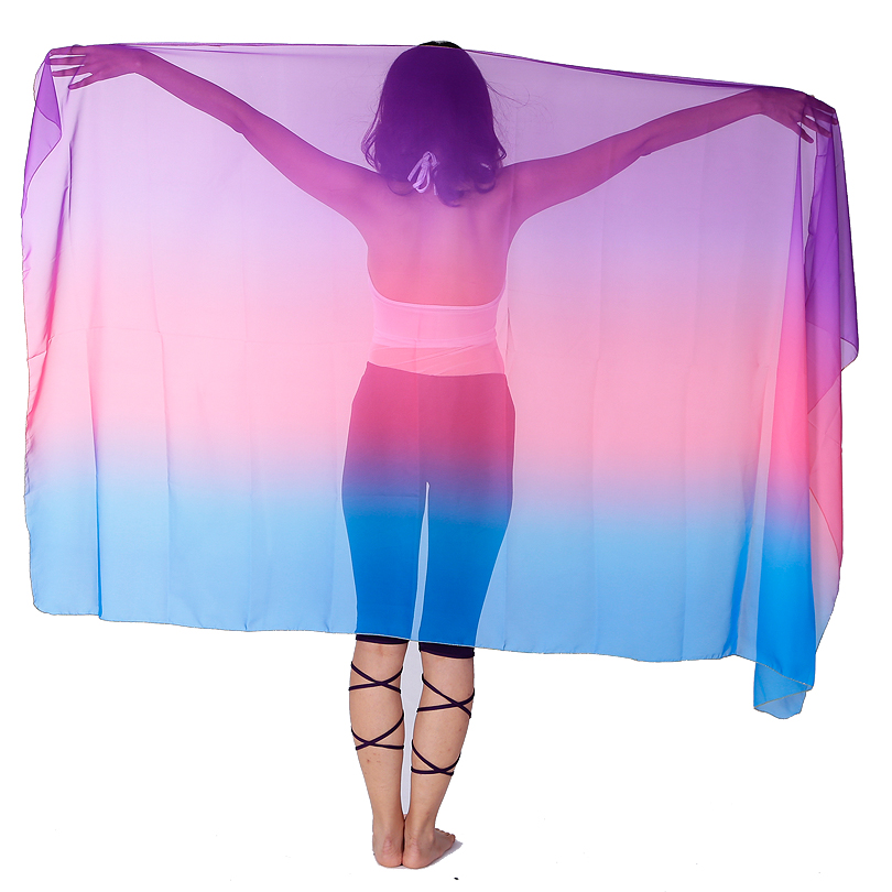 220*120cm Customize Colorful Dance Scarf Women Belly Dance Veil