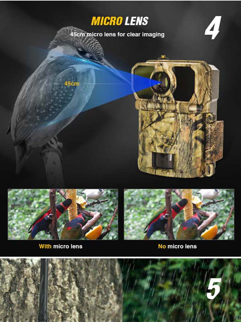 Keepguard Solar 4G Wireless Trail Camera Cellular Digital Mms Trail Camera