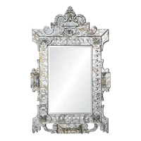 Palace big home decor design luxury Mirror framed mirror for bedroom set decoration