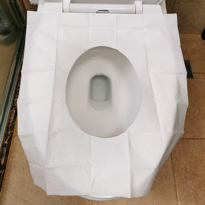 VOBAGA disposable white virgin wood pulp pe toilet seat cover