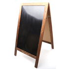 Blackboard Chalkboard Price Chalkboard Wooden Easel Blackboard Chalkboard Sign Display Erasable Message Memo Board
