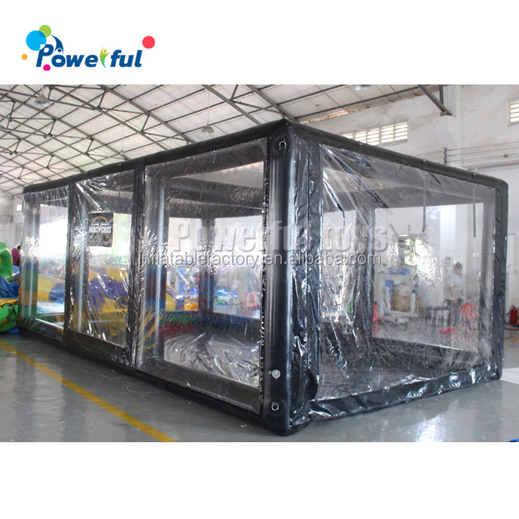 PVC inflatable garage tent for cars with transparent door