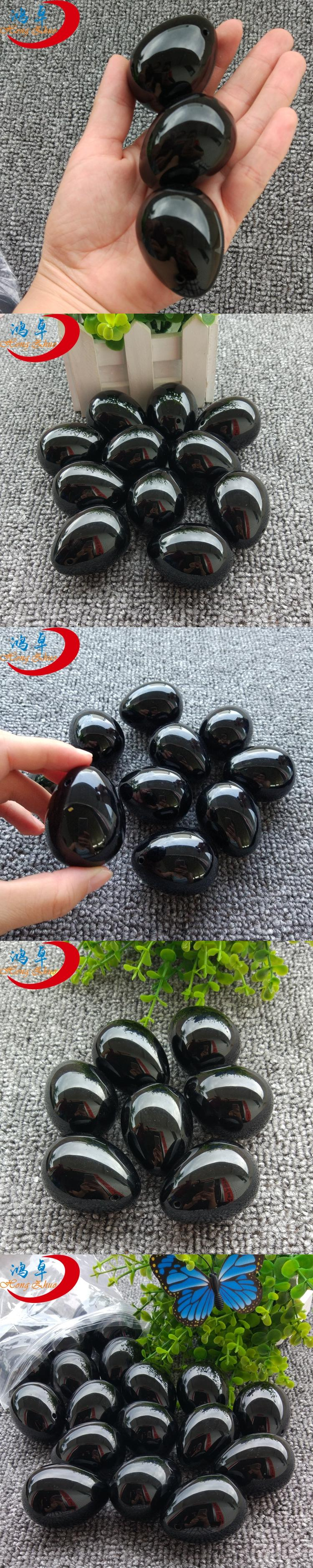 Hot sale factory direct gemstone jade yoni eggs for vaginal Drilled High quality