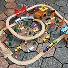 Toy Train Toys Train Train Set Toy Customized Blocks Track Educational Toy Wood DIY Traffic Train Sets Toys