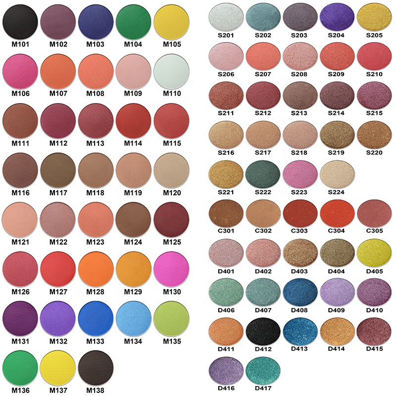 Custom your own brand and colors cosmetics private label makeup eyeshadow palette