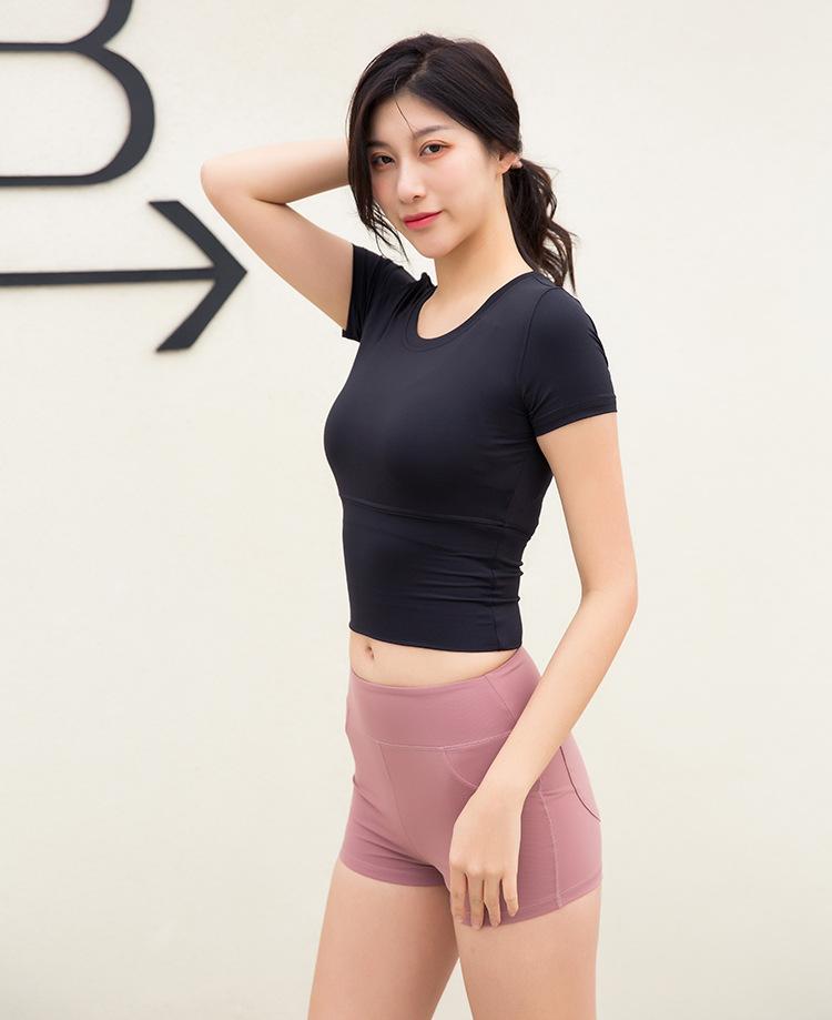 Wholesale Sports clothing t-shirt women women short t-shirt fitness wear 2