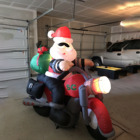 Christmas Airblown Inflatable Santa Motorcycle Chopper