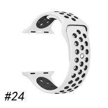 Ремешок для часов, силиконовый, для Apple Watch 5/4/3/2/1, 38/40/42/44 мм(Китай)