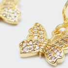 Gold Plated Cubic Zirconia 2020 Fashion Jewelry 18k Gold Plated Cubic Zirconia Brass Drop Earrings Butterfly Earrings