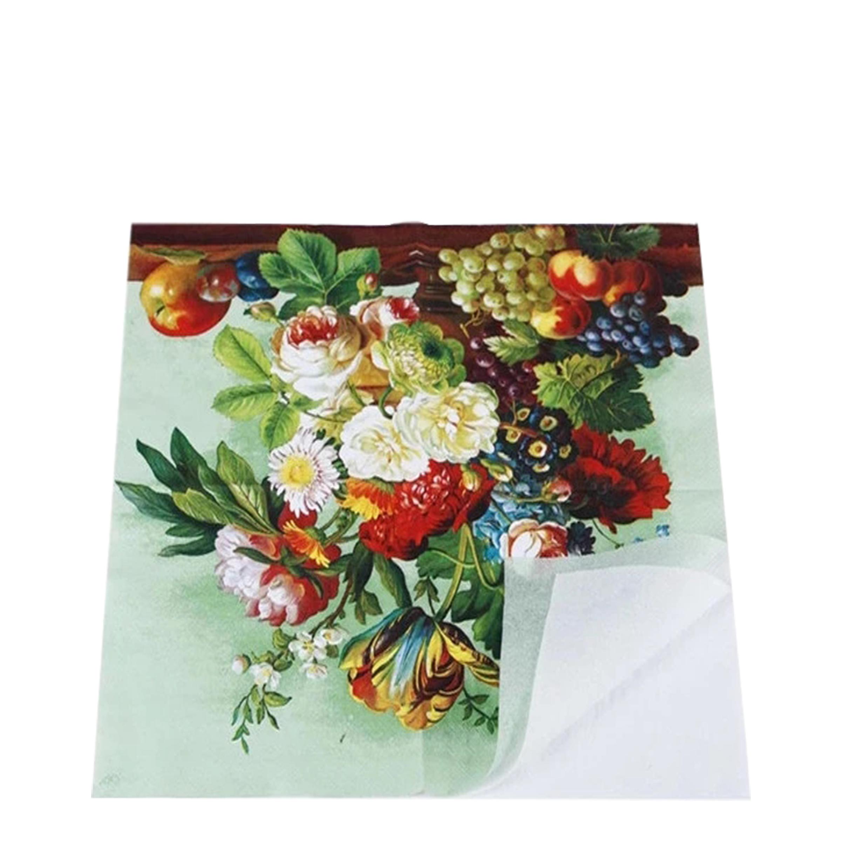 Piegare Tovaglioli Di Carta fiori freschi stampato piegare tovaglioli di carta tissue - buy piegare  tovaglioli di carta tissue,piegare tovaglioli di carta tissue,piegare
